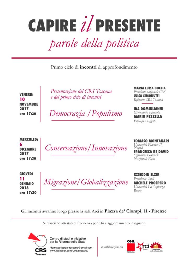 Capire il presente (parole della politica). Primo ciclo @ ARCI Ciompi | Firenze | Toscana | Italia