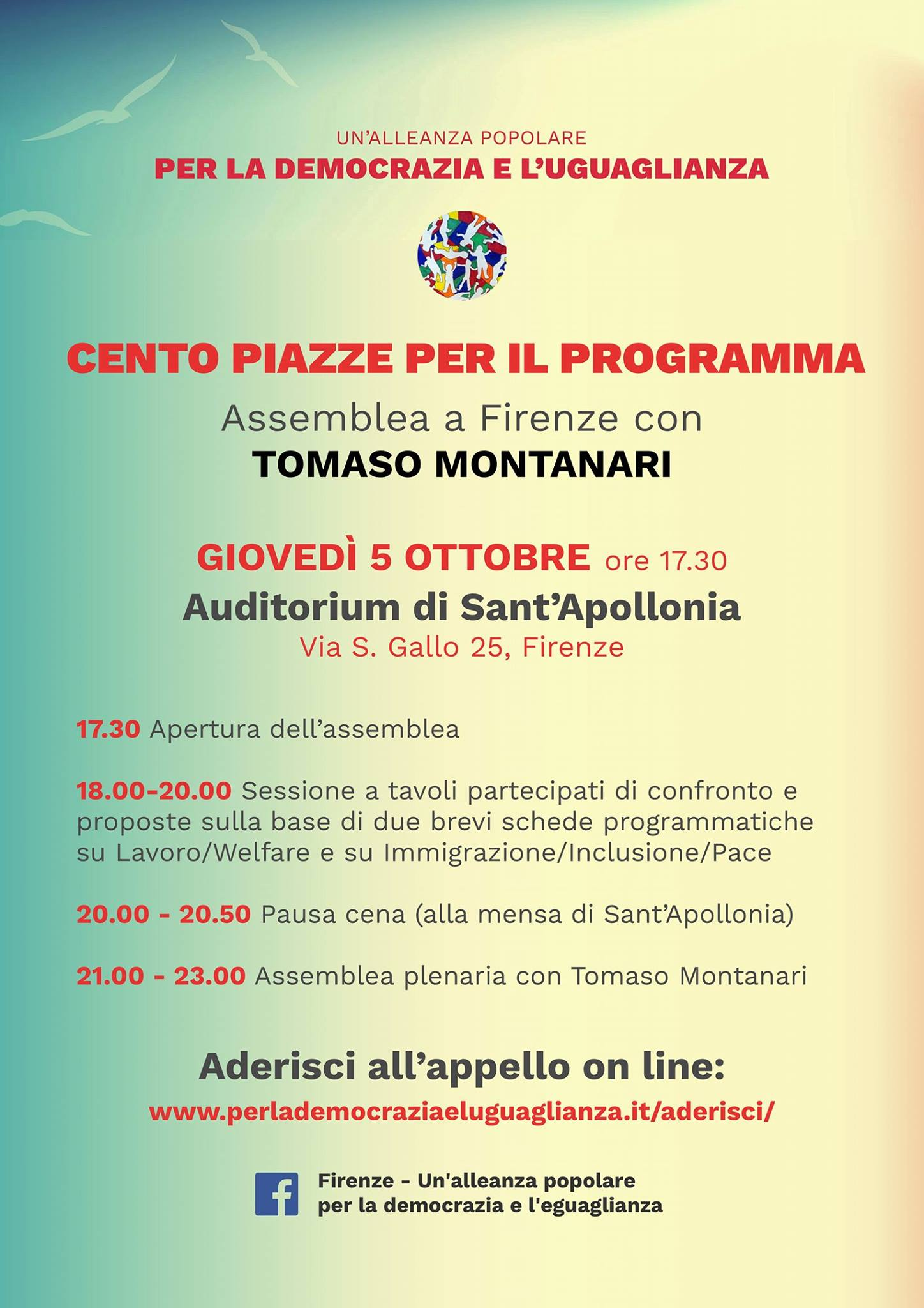 Cento Piazze: assemblea a Firenze @ Auditorium di Sant'Apollonia   Firenze   Toscana   Italia