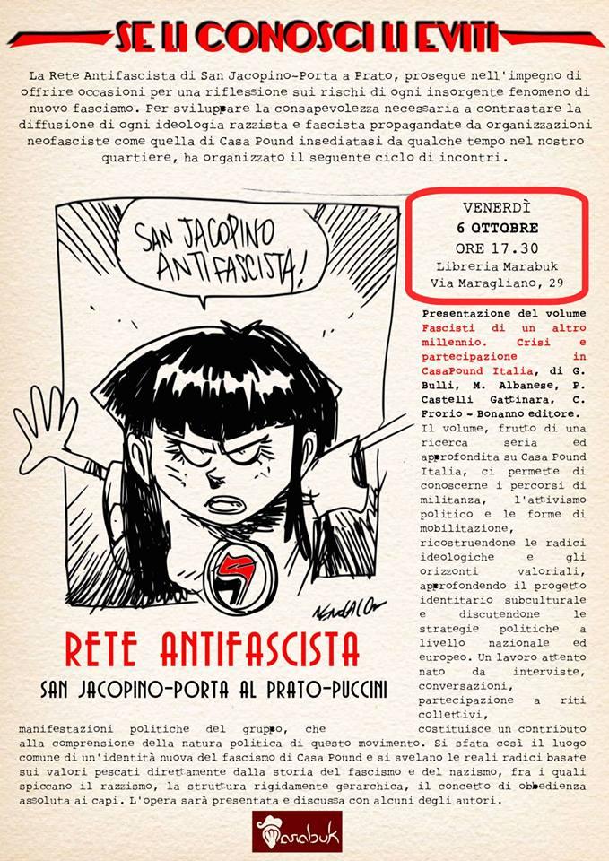 Fascisti di un altro millennio (San Jacopino antifascista) @ Libreria Marabuk   Firenze   Toscana   Italia