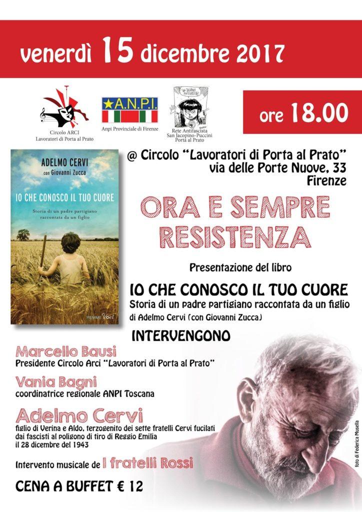 Adelmo Cervi - Io che conosco il tuo cuore @ Circolo Lavoratori di Porta al Prato | Firenze | Toscana | Italia