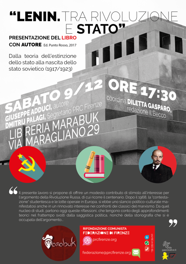 Lenin tra rivoluzione e stato @ Libreria Marabuk | Firenze | Toscana | Italia