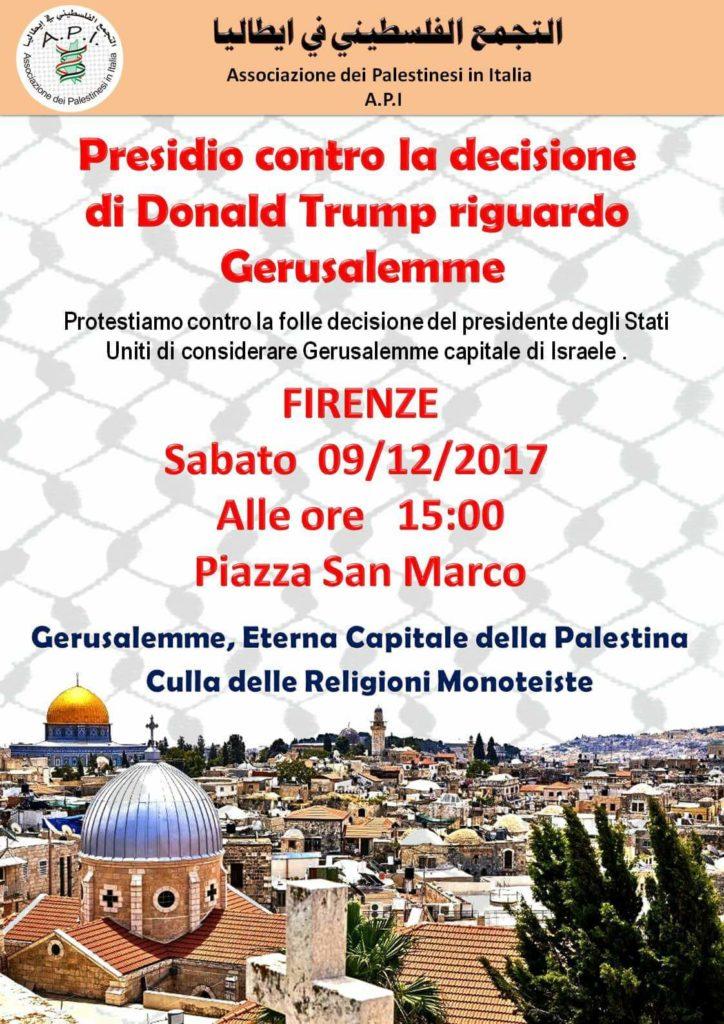 Gerusalemme non è capitale di Israele @ Piazza San Marco | Firenze | Toscana | Italia