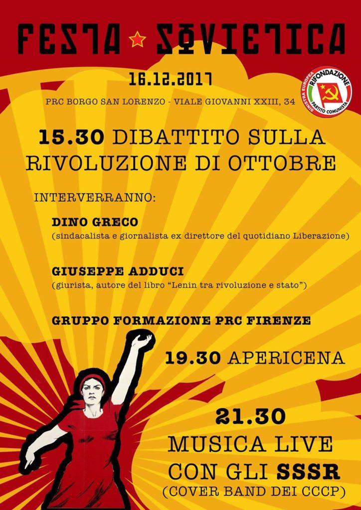 Festa Sovietica - Dibattito, cena, concerto @ Sede PRC Borgo San Lorenzo | Borgo San Lorenzo | Toscana | Italia