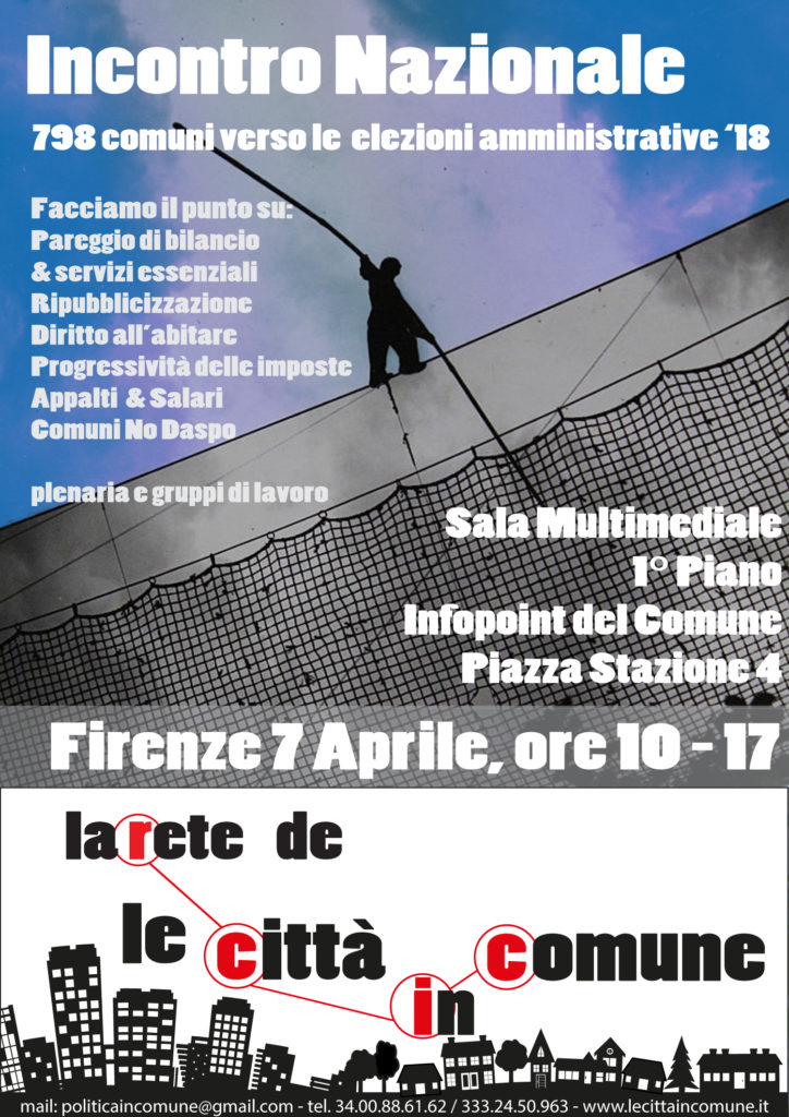 """Rete delle """"Città in Comune"""", incontro nazionale @ Sala Multimediale InfoPoin Comune di Firenze   Firenze   Toscana   Italia"""
