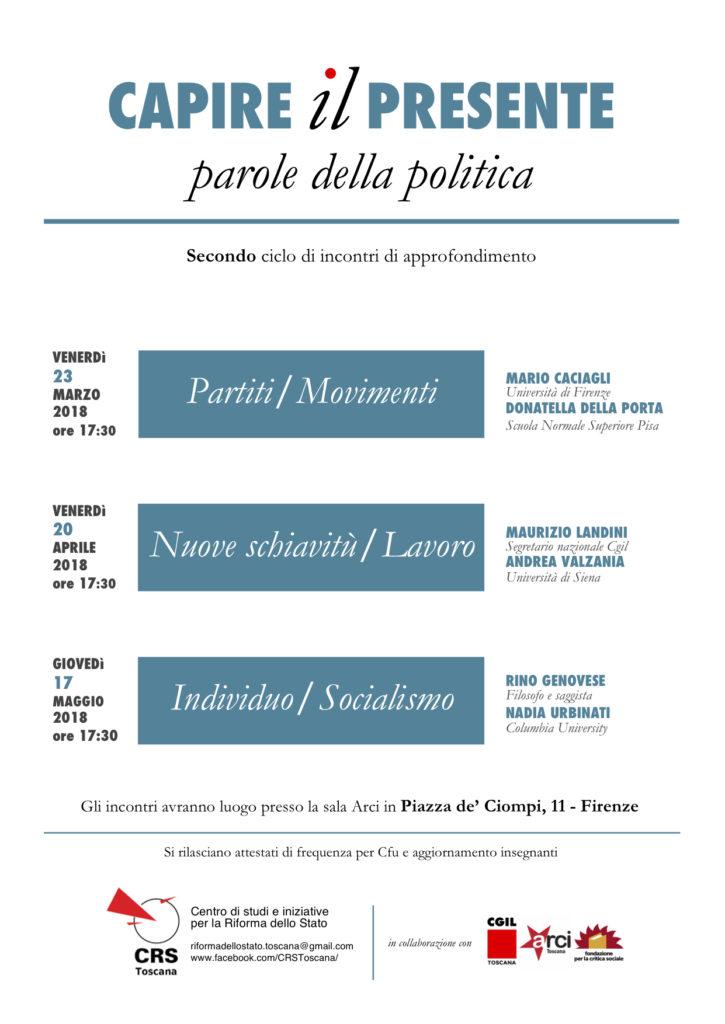 Capire il presente (CRS Toscana) @ Sala ARCI Firenze (Ciompi)   Firenze   Toscana   Italia