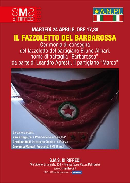 Il fazzoletto di Barbarossa a Leandro Agresti @ SMS di Rifredi   Firenze   Toscana   Italia