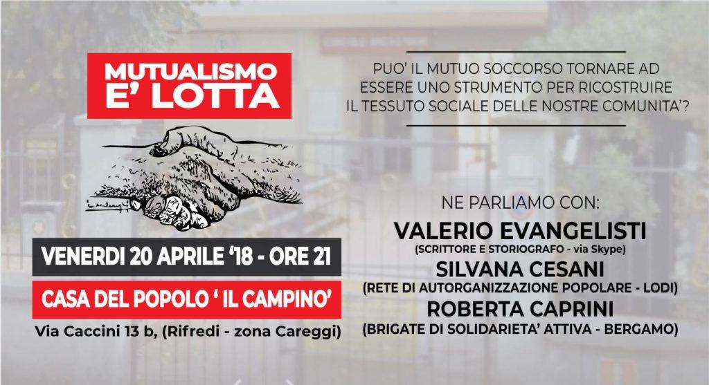 Mutualismo è lotta @ Il Campino   Firenze   Toscana   Italia