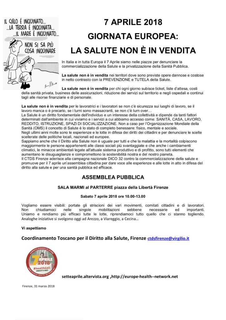 La salute non è in vendita @ Sala Marmi - Parterre   Firenze   Toscana   Italia