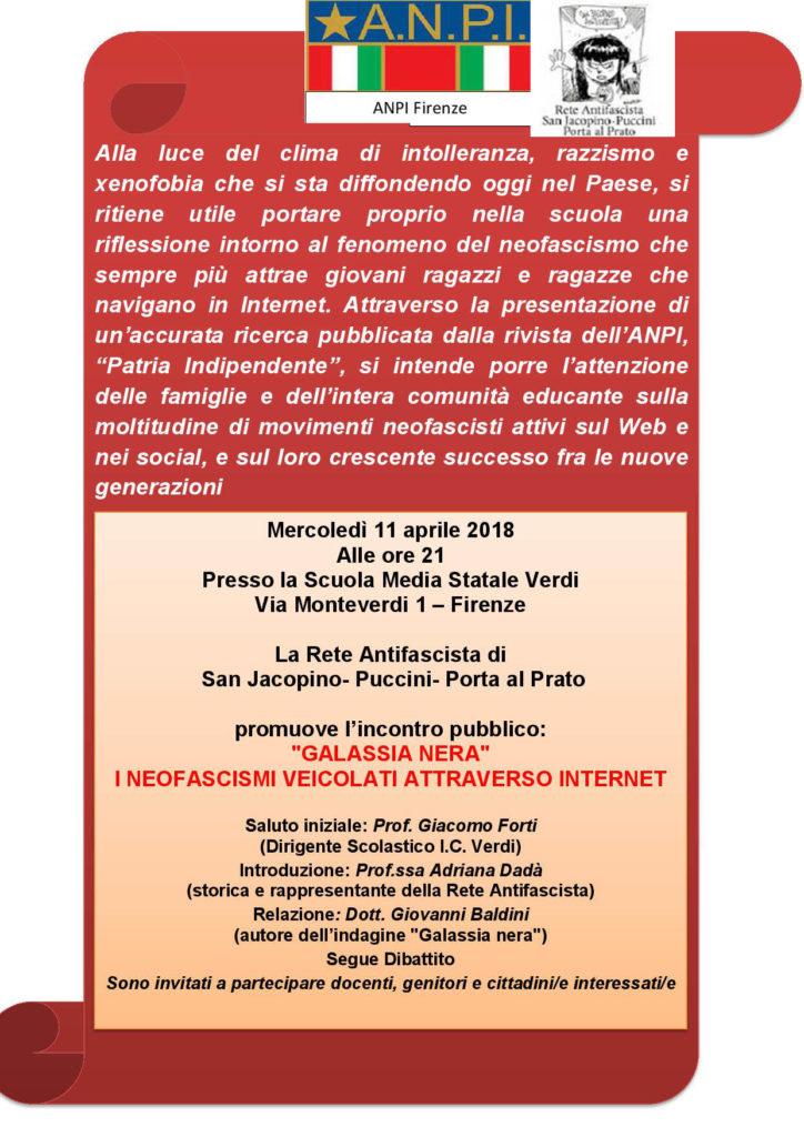 Iniziativa antifascista alla scuola Verdi @ Scuola Media Statale Verdi   Firenze   Toscana   Italia