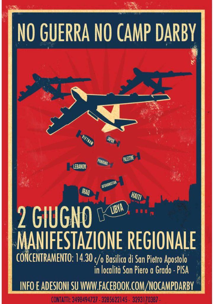 No guerra, no Camp Darby - Manifestazione regionale @ Basilica di San Pietro Apostolo | Pisa | Toscana | Italia