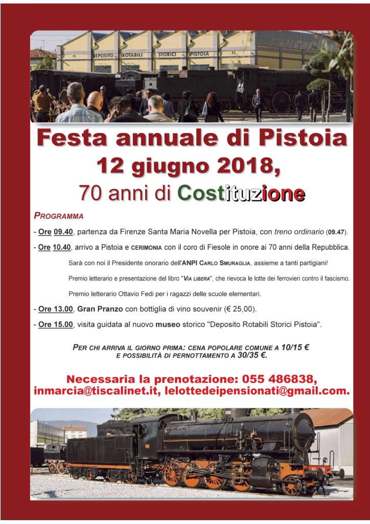 Festa antifascista dei ferrovieri @ Dopolavoro ferroviario di Pistoia | Pistoia | Toscana | Italia