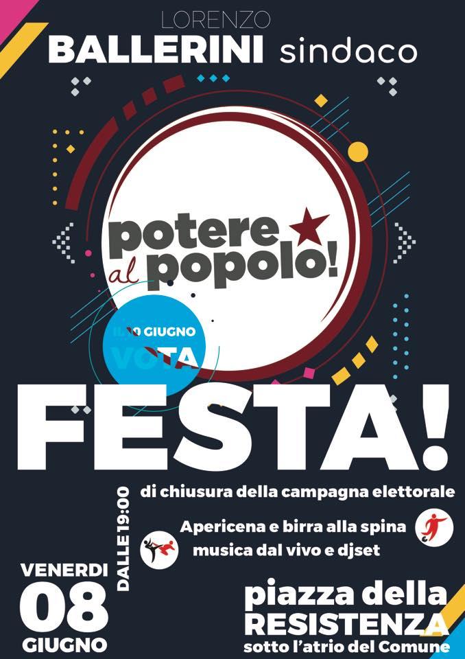 Festa di chiusura elettorale Potere al Popolo Campi Bisenzio @ piazza della Resistenza | Toscana | Italia