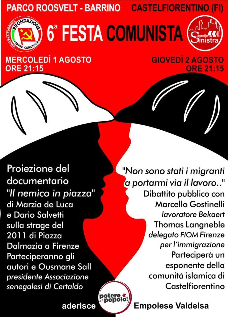 VI festa comunista a Castelfiorentino @ Parco Roosvelt - Barrino | Castelfiorentino | Toscana | Italia