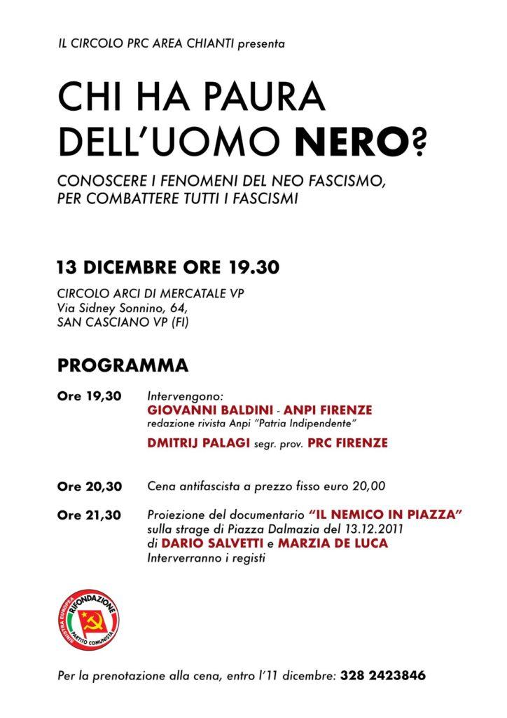 Chi ha paura dell'uomo nero? @ Circolo ARCI Mercatale   Mercatale In Val di Pesa   Toscana   Italia
