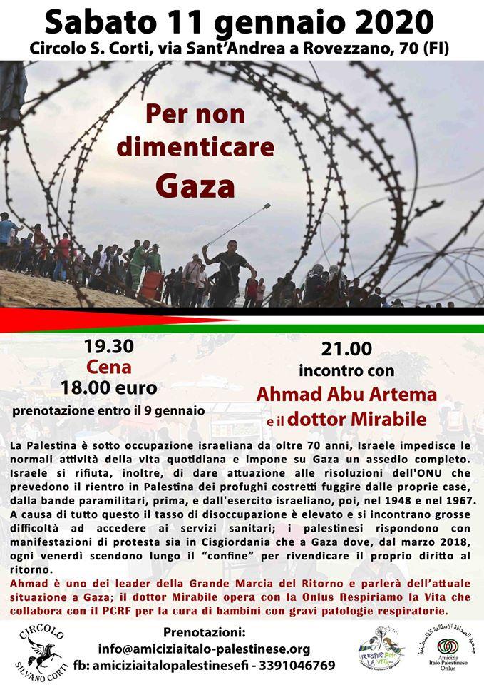 Per non dimenticare Gaza @ Circolo S. Corti